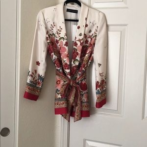 Zara Jackets & Coats - Zara Floral Blazer